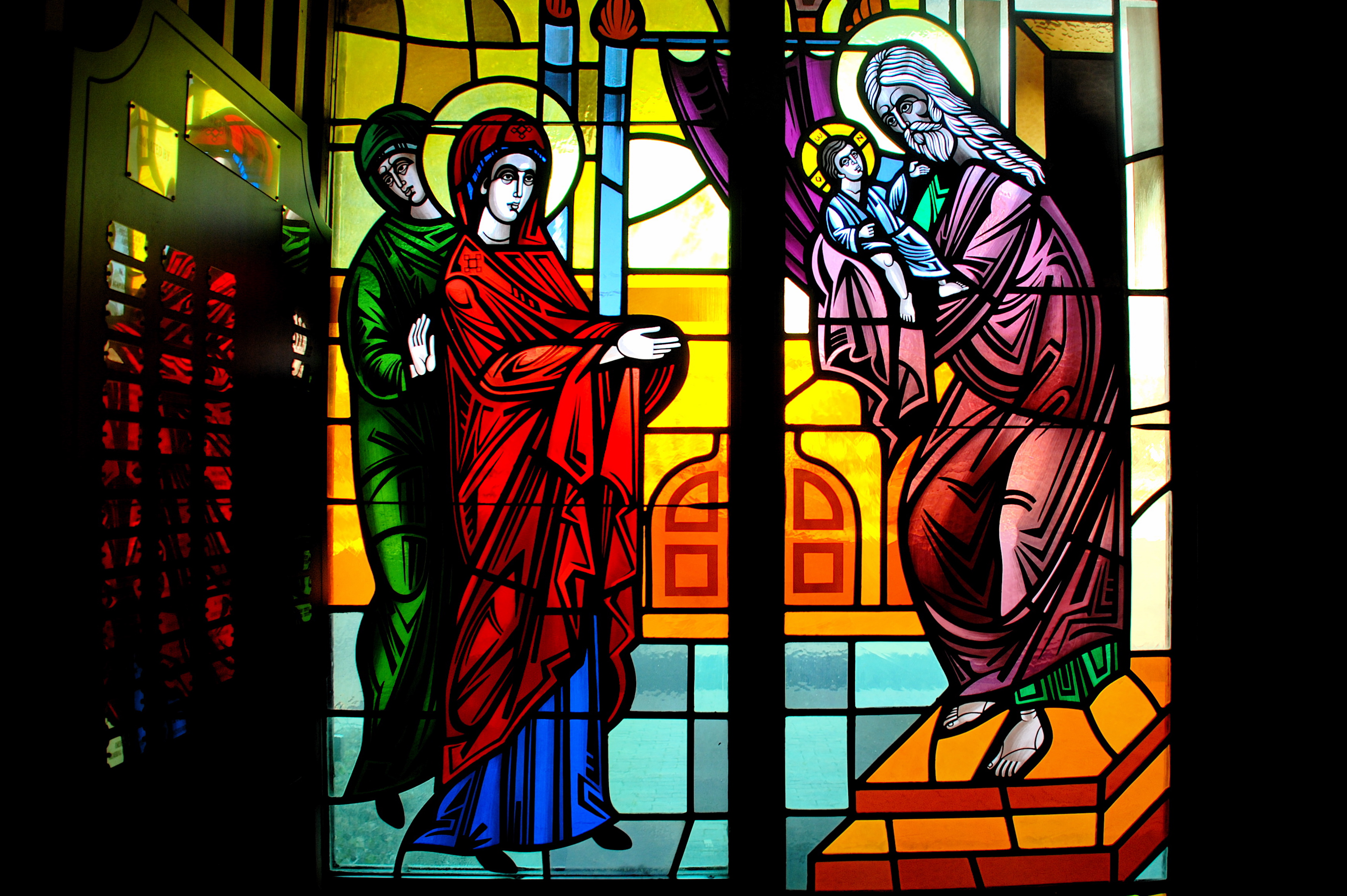 Stained glass windows charlotte nc images for Narrow windows for sale