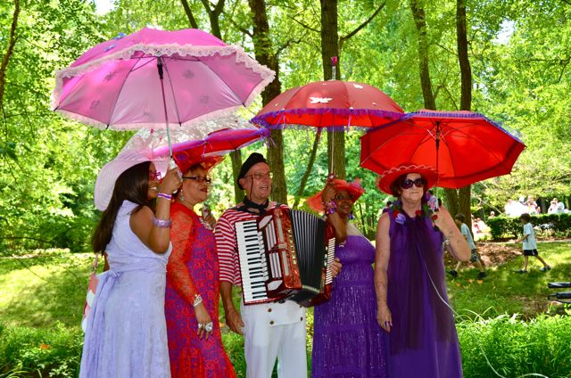 Red Hat Ladies & Accordian Man