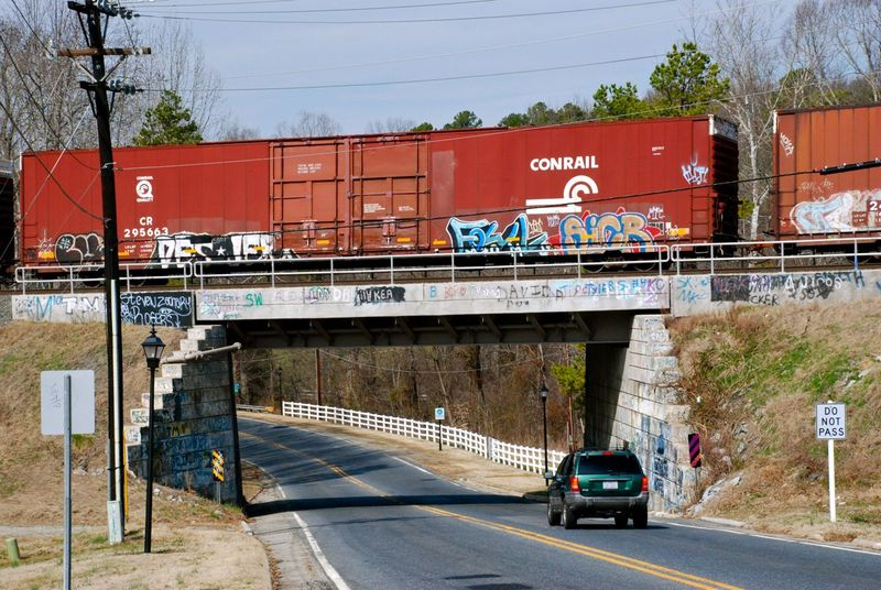 Train over High Point Road