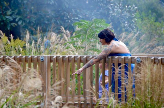Mom in arboretum - 1