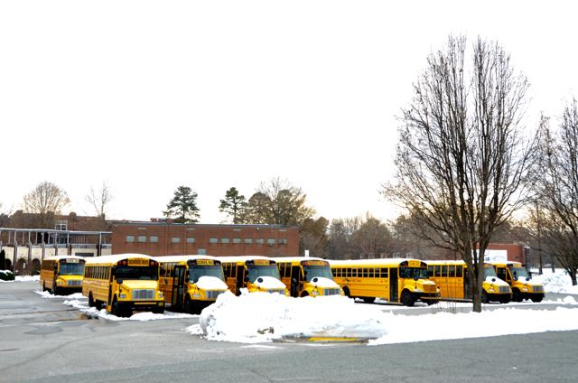Busses in snow - 1