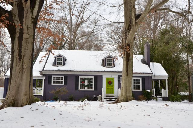 Purple House With Green Door On Beverly Place Greensboro